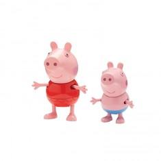 Figurines Peppa Pig en vacances : Peppa et Georges
