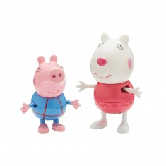 Figurines Peppa Pig en vacances : Suzie et Georges