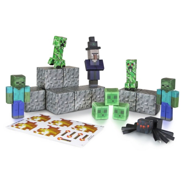 kit construction papier minecraft hostile mobs jeux et jouets giochi preziosi avenue des jeux. Black Bedroom Furniture Sets. Home Design Ideas