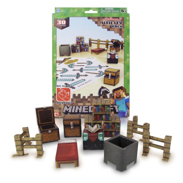 kit construction papier minecraft kit de survie jeux et jouets giochi preziosi avenue des jeux. Black Bedroom Furniture Sets. Home Design Ideas