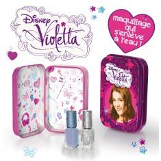 Maquillage Violetta : Boîte en métal + 2 vernis à ongles gris