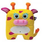 Peluche 25 cm à décorer Inkoos : Girafe jaune
