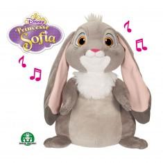 Peluche Princesse Sofia : Clovis le lapin, avec fonctions