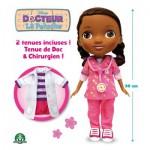 Poupée Docteur La Peluche avec tenue doc + tenue chirurgien