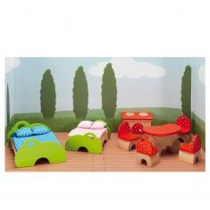 Maison de poupées : Mobilier chambre et cuisine