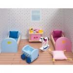 Maison de Poupées : Mobilier pour Château rose Goki : Chambre d'enfants