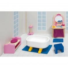 Maison de Poupées : Mobilier pour Château rose Goki : Salle de bain