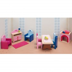 Maison de Poupées : Mobilier pour Château rose Goki : Séjour