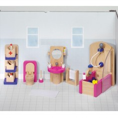 Maison de poupées : Mobilier salle de bain (complet)
