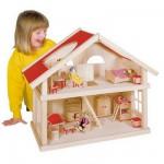 Maison de poupées à  2 niveaux