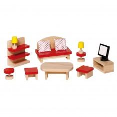 Mobilier pour maison de poupées : Salle de séjour