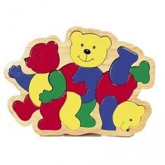 Puzzle 16 pièces en bois : Les 3 ours