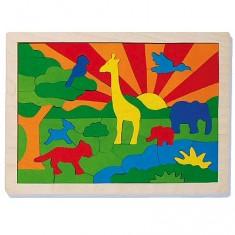 Puzzle 57 pièces : La jungle