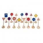 15 panneaux routiers en bois