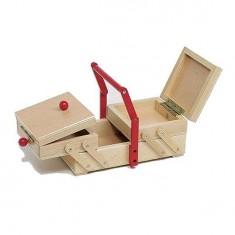 Boîte en bois à couture ou à bijoux
