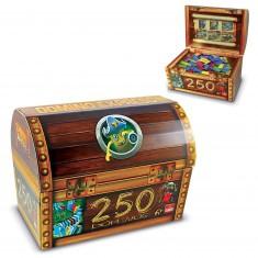 Dominos Express Pirate : Coffre à trésors 250 pièces