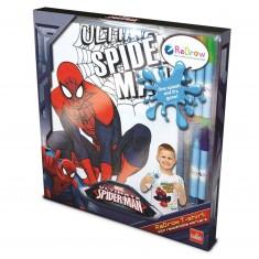 Set de costumisation : Tee-Shirt à colorier Spiderman