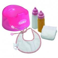 Accessoires de poupées : Götz Boutique : Coffret Repas et hygiène : Basique