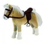 Accessoires de poupées : Götz Boutique : Peluche Cheval articulé avec sel et harnais : Halfinger
