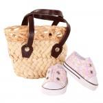 Accessoires pour poupée de 42 à 50 cm : Chaussures et sac à main