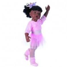 Poupée Hannah au ballet, Afro-américaine 50 cm