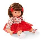 Poupée Maxy Muffin 42 cm : Robe à fleurs avec jupon rouge