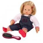 Poupée Maxy Muffin 42 cm cheveux blonds avec salopette et brosse