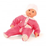 Poupon Maxy Muffin 42 cm : Pyjama rose et bonnet blanc