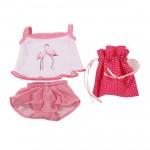 Vêtement pour poupée de 30 à 33 cm : Ensemble flamands roses