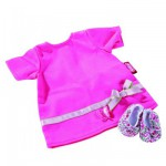 Vêtement pour poupée de 30 à 33 cm : Robe avec chaussures