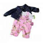 Vêtement pour poupée de 30 à 33 cm : Salopette, veste en jeans, T-shirt