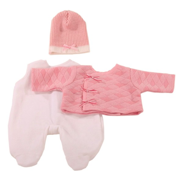Vêtement pour poupée de 42 à 46 cm : Ensemble de nuit avec bonnet rose - Gotz-3402593