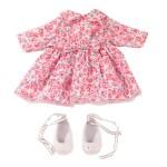 Vêtement pour poupée de 42 à 46 cm : Robe à fleurs et chaussures blanches