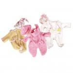 Vêtement pour poupée de 42 à 46 cm : Trois ensembles