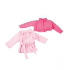 Vêtement pour poupée de 45 à 50 cm : Manteau et veste en tricot