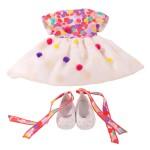 Vêtement pour poupée de 45 à 50 cm : Robe multicolore
