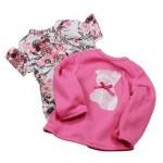 Vêtements pour poupée de 25 à 30 cm : Götz Boutique Lot de 2 chemisiers uni et fleuri