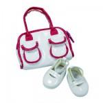 Vêtements pour poupée de 42 à 50 cm : Götz Boutique Chaussures blanches avec sac
