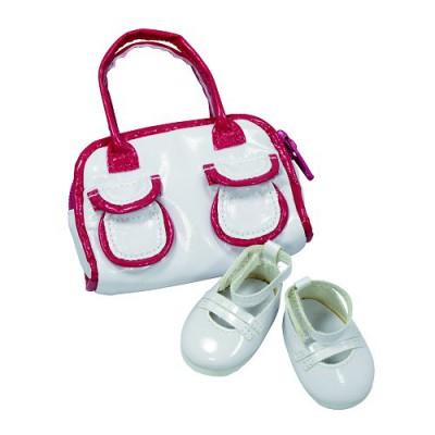 Vêtements pour poupée de 42 à 50 cm : Götz Boutique Chaussures blanches avec sac - Gotz-3401792