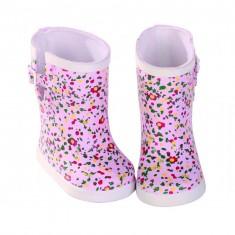 Vêtements pour poupée de 42 à 50 cm : Bottes de pluie à fleurs