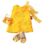 Vêtements pour poupée de 45 à 50 cm : Robe jaune avec chaussures