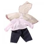 Vêtements pour poupées de 30-33 cm : Imperméable, pantalon et T-shirt