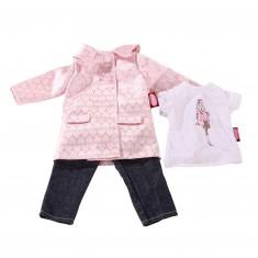 Vêtements pour poupées de 45 cm : Jean, tee-shirt et manteau
