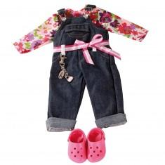 Vêtements pour poupées de 45 cm : Salopette en jean avec Dollocs
