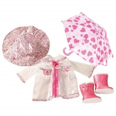 Vêtements pour poupées de 45 cm : Tenue et accessoires de pluie