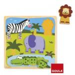 Encastrement 10 pièces en bois : Puzzle jungle
