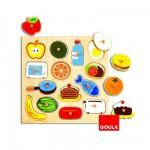 Encastrement 14 pièces en bois : Puzzle dedans dehors