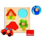 Encastrement 4 pièces en bois : Puzzle couleur