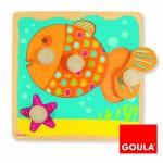Encastrement 4 pièces en bois : Puzzle poisson
