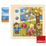 Puzzle 16 pièces en bois : Automne